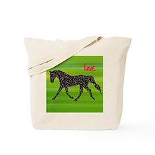 Horse and Hearts Tote Bag