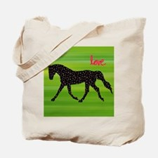 Horse and Hearts Tote Bag