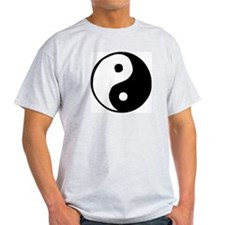 Yin Yang Ash Grey T-Shirt