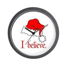 I Believe in Santa Wall Clock