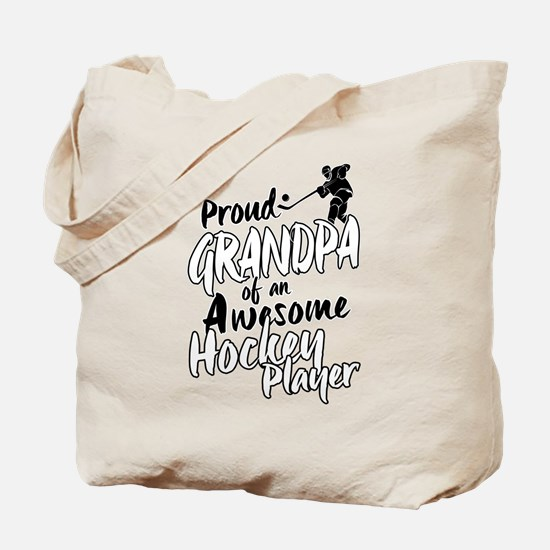 Proud Grandpa of An Awesome Hockey Player Tote Bag
