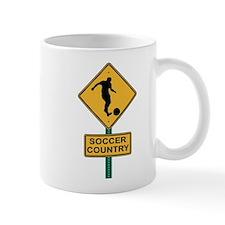 Soccer Country Road Sign Mug