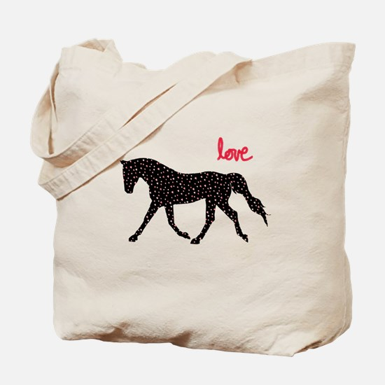 Horse with Hearts Tote Bag