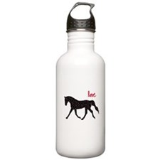 Horse with Hearts Water Bottle