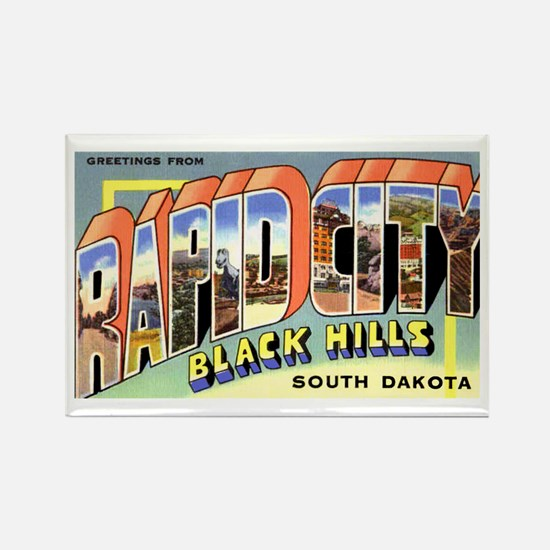 Rapid City South Dakota Greetings Rectangle Magnet