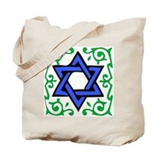 Star of David / Grapes Tote Bag