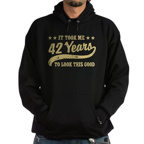 Funny 42nd Birthday Hoodie (dark)