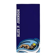 Personalized Mens Pool or Beach Towel