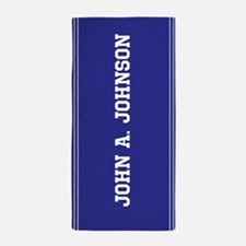 Blue custom name Beach Towel