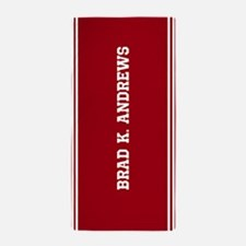Red personalized name Beach Towel
