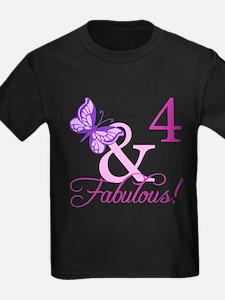 Fabulous 4th Birthday For Girls T