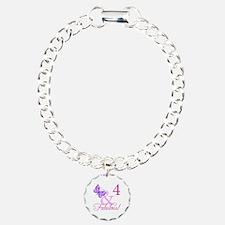Fabulous 4th Birthday For Girls Bracelet