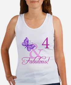 Fabulous 4th Birthday For Girls Women's Tank Top