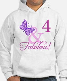 Fabulous 4th Birthday For Girls Hoodie
