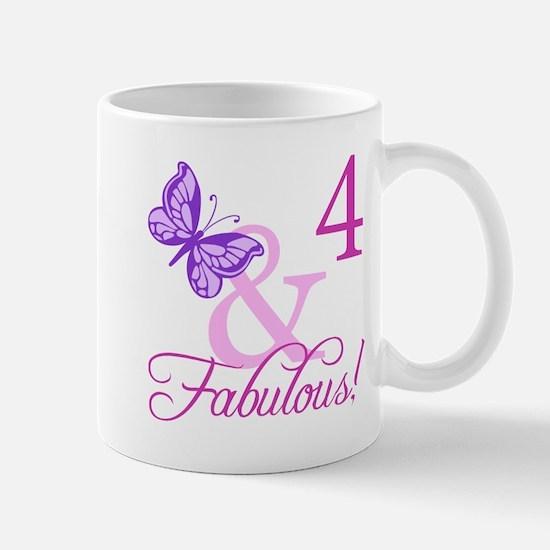 Fabulous 4th Birthday For Girls Mug