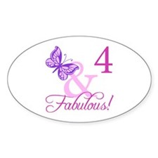 Fabulous 4th Birthday For Girls Decal