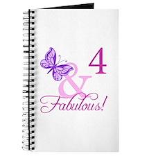 Fabulous 4th Birthday For Girls Journal
