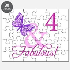 Fabulous 4th Birthday For Girls Puzzle