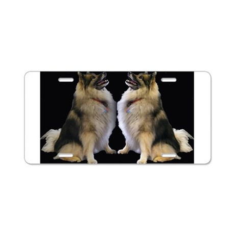 Sitting Kees Reflection Aluminum License Plate