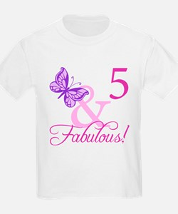 Fabulous 5th Birthday For Girls T-Shirt