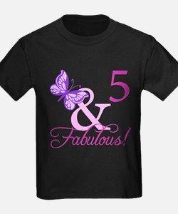 Fabulous 5th Birthday For Girls T