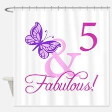 Fabulous 5th Birthday For Girls Shower Curtain