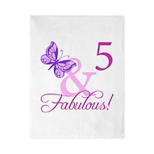 Fabulous 5th Birthday For Girls Twin Duvet