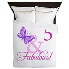 Fabulous 5th Birthday For Girls Queen Duvet