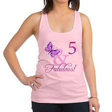 Fabulous 5th Birthday For Girls Racerback Tank Top