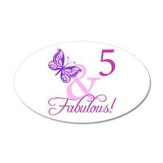 Fabulous 5th Birthday For Girls Wall Decal