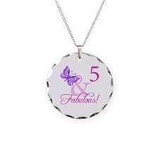 Fabulous 5th Birthday For Girls Necklace