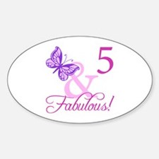 Fabulous 5th Birthday For Girls Decal