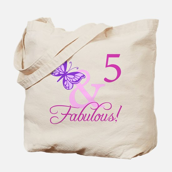 Fabulous 5th Birthday For Girls Tote Bag
