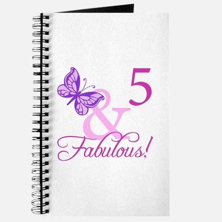 Fabulous 5th Birthday For Girls Journal