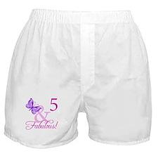 Fabulous 5th Birthday For Girls Boxer Shorts