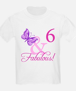 Fabulous 6th Birthday For Girls T-Shirt