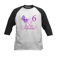Fabulous 6th Birthday For Girls Tee