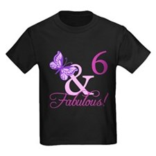 Fabulous 6th Birthday For Girls T