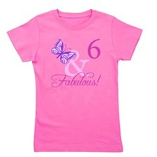 Fabulous 6th Birthday For Girls Girl's Tee