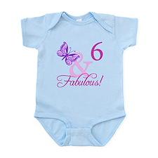 Fabulous 6th Birthday For Girls Infant Bodysuit