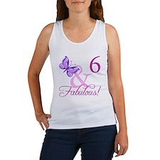 Fabulous 6th Birthday For Girls Women's Tank Top
