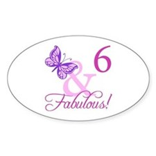 Fabulous 6th Birthday For Girls Decal