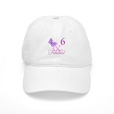 Fabulous 6th Birthday For Girls Baseball Cap