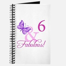 Fabulous 6th Birthday For Girls Journal