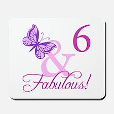 Fabulous 6th Birthday For Girls Mousepad