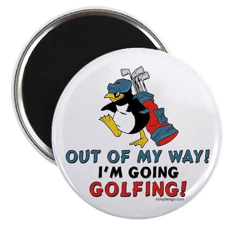 """Golfing Penguin 2.25"""" Magnet (10 pack)"""