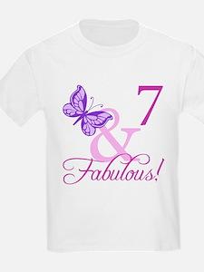 Fabulous 7th Birthday For Girls T-Shirt