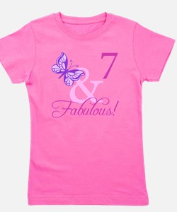 Fabulous 7th Birthday For Girls Girl's Tee