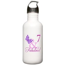Fabulous 7th Birthday For Girls Water Bottle