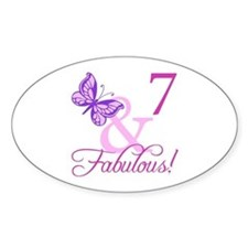 Fabulous 7th Birthday For Girls Decal